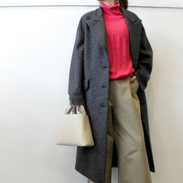 HARRIS WHARF LONDON(ハリスワーフロンドン) Women oversized great coat  (2色展開)_A1499MLK-Y【K】
