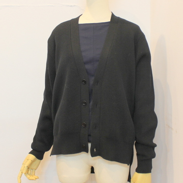 YLÉVE(イレーヴ) COTTON CODE YARN RIB KNIT CARDIGAN_168-9264006【K】