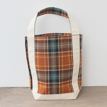 TEMBEA(テンベア)BAGUET TOTE S(WOOL BROWN CHECK)【K】