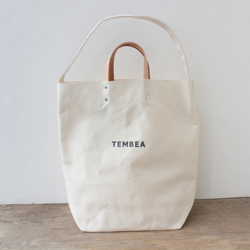 TEMBEA(テンベア)2WAY LOGO BAG(NATURAL)【K】
