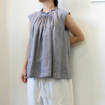 GASA*(ガサ) 【20SS】黒豆さん Gathered blouse_11201-03407-B-F【K】