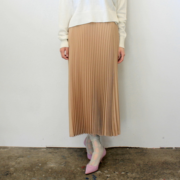 【30% off sale】Graphpaper(グラフペーパー)【20 SS】Silk Wool Pleat Skirt_GL201-40039【K】