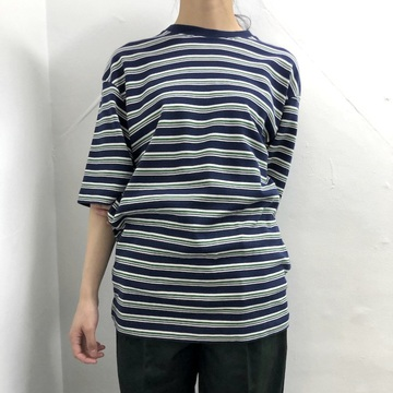 LENO&Co.(リノアンドコー) /【20SS】MULTI BORDER BIG T-SHIRT_H2001-CS004【K】
