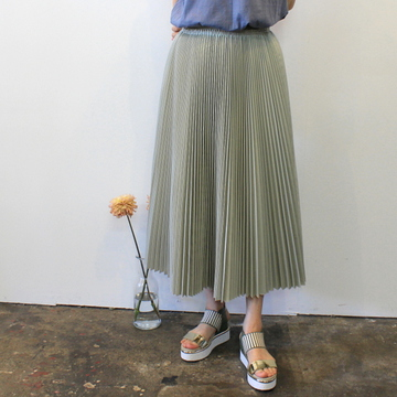 YLÉVE(イレーヴ) 【20SS】CHINO PLEATS SKIRT_168-0130567【K】