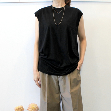 YLÉVE(イレーヴ) 【20SS】RECYCLE ORGANIC COTTON N/S P/O(3色展開)_168-0166055【K】