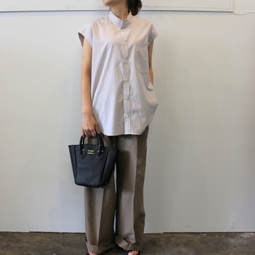 AURALEE(オーラリー) 【20SS】WASHED FINX TWILL SLEEVELESS SHIRTS _A20SS05TN【K】