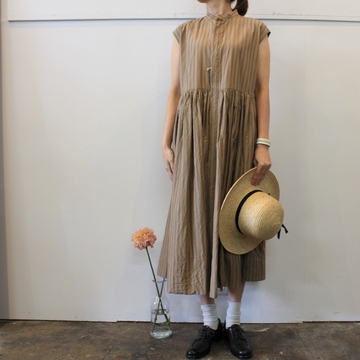 TOUJOURS(トゥジュー)【20SS】Sleeveless Band Collar Dress TM32FD02 【K】
