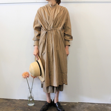 TOUJOURS(トゥジュー) 20SS Pin tuck string robe dress TM32FD01【K】