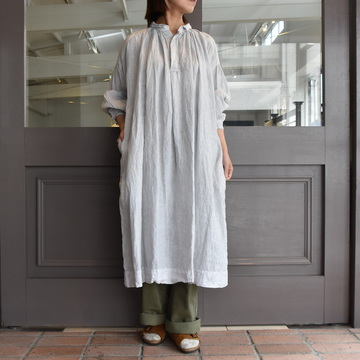 TOUJOURS(トゥジュー)  Sholder Patched Surplice Shirt Dress #MM32RD01