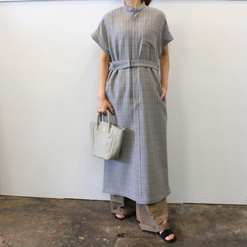 AURALEE(オーラリー) 【20SS】HARD TWIST WOOL DOUBLE FACE CHECK SLEEVELESS OP  A20SD03WC【K】