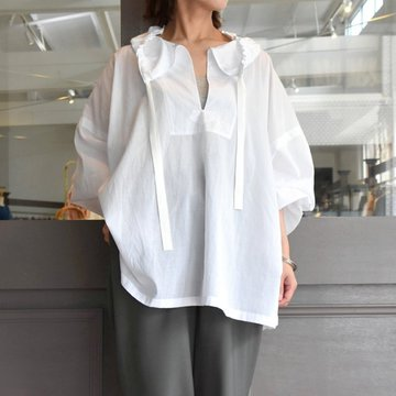 【30% off sale】YLÉVE(イレーヴ) 【2020】COTTON BLOUSE(2色展開) #168-0150050