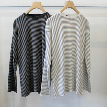 LENO&Co.(リノアンドコー) 【21SS】LONG SLEEVE BORDER T-SHIRT(2色展開)_H2101CS002【K】