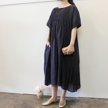 maison de soil(メゾンドソイル) MINI PINTUCK CREW-NECK S/S DRESS_NMDS21143【K】