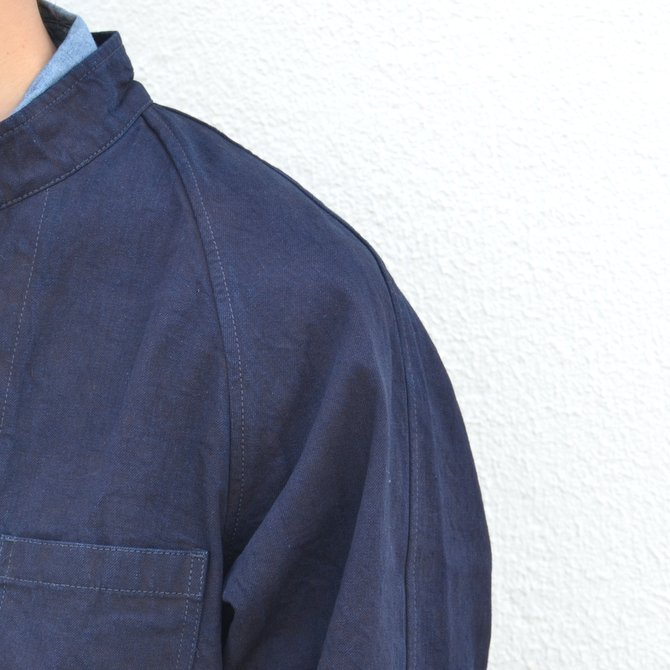 chimala(チマラ)/10OZ INDIGO X BLACK WEFT DENIM RAILROAD JACKET(UNISEX) -INDIGO- CS23-JT19(10)