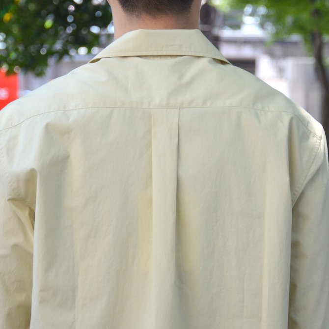 【40% OFF SALE】STUDIO NICHOLSON(スタジオニコルソン)/ OPEN COLLAR SHORT SLV SHIRT -KHAKI- #SN-280(10)