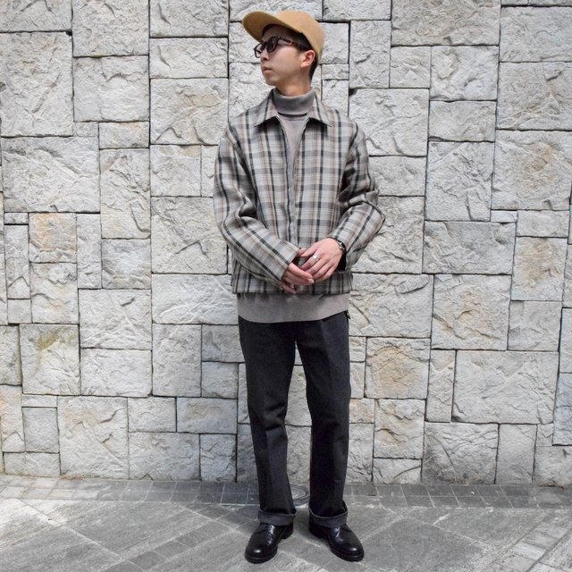 【30% off sale】【19 AW】 AURALEE(オーラリー)/DOUBLE FACE CHECK ZIP BLOUSON -BROWN CHECK-#A9AB02BN-BR(10)