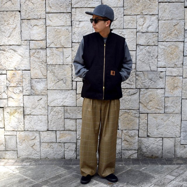 【30% OFF】is-ness(イズネス)/ COJ NU WIDE EZ PANTS -BROWN BLUE-  #30AWPT05-BR(10)