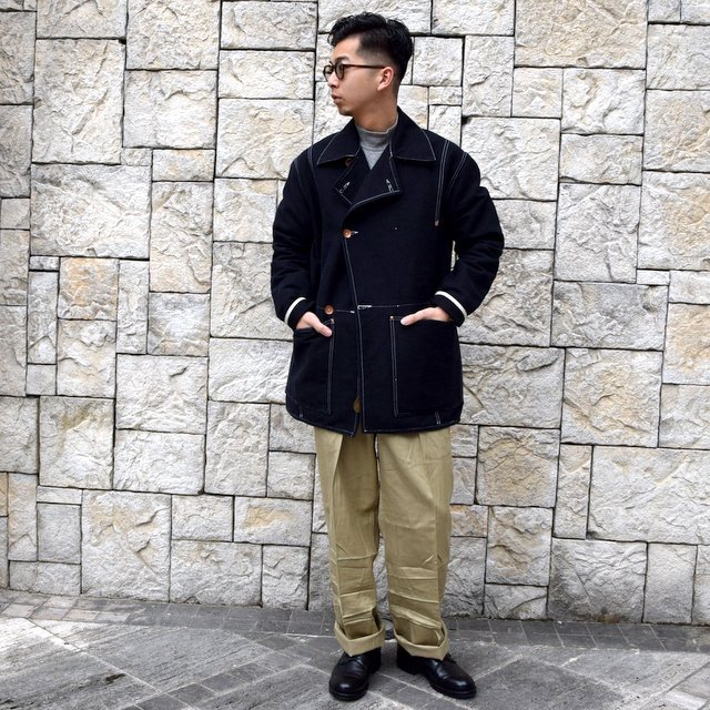 【30% off sale】TENDER Co.(テンダー)Type 962 COOK'S COAT -BLACK- #962(10)
