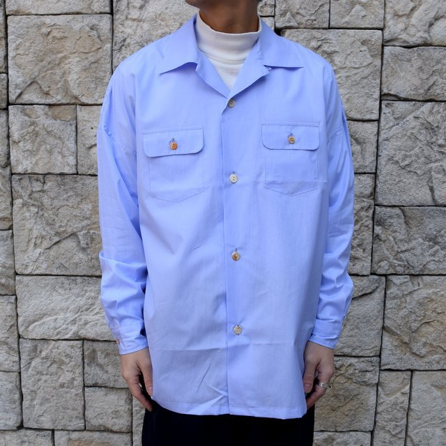 【30% off sale】【2020】MAATEE&SONS(マーティーアンドサンズ)/ ''DAVID&JOHN ANERSON'' OPEN COLLAR SHIRT -2色展開- #MT0103-0607A(10)