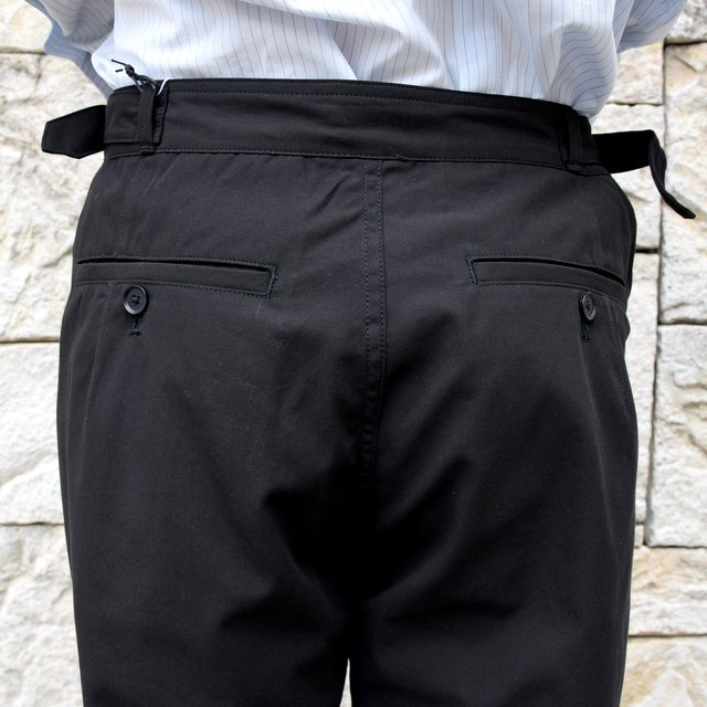 【2020】AURALEE(オーラリー)/ FINX HARD TWIST GABARDINE PANTS -BLACK- #A20SP02FB(10)