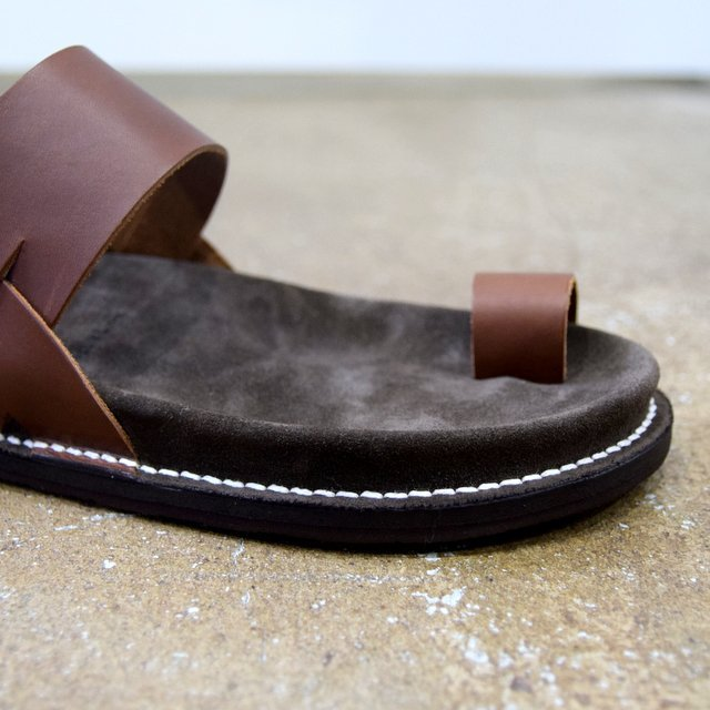 【2020 SS】KAPTAIN SUNSHINE × PHIGVEL / GURKHA FOOTBED SANDALS -BROWN- #KS20SGD06(10)