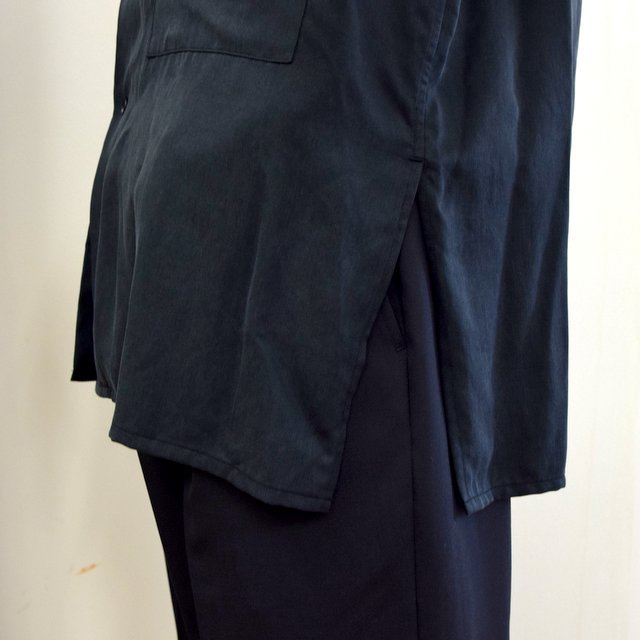【2020】YOKE(ヨーク)/ BIG FLAP LONG SHIRTS -BLACK- #YK20AW0144SH(10)