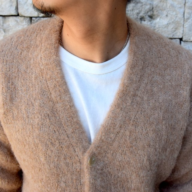 【2020】 AURALEE(オーラリー)/ ALPACA WOOL SUPER LIGHT KNIT BIG CARDIGAN -TOP BEIGE- #A20AC01AW(10)