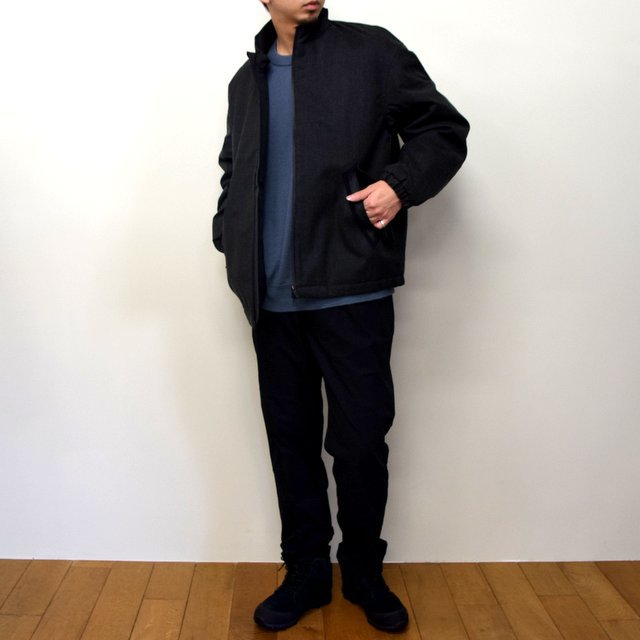 DESCENTE PAUSE(デサント ポーズ)/ WOOL MIX STAND COLLAR ZIP UP BLOUSON -GRBK- #DLMQJC33(10)