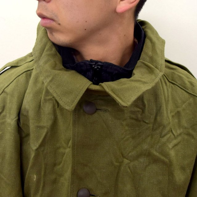 DEAD STOCK(デッドストック)/ FRENCH ARMY MOTORCYCLE COAT -OLIVE- #MILITARY300(10)