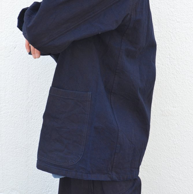 chimala(チマラ)/10OZ INDIGO X BLACK WEFT DENIM RAILROAD JACKET(UNISEX) -INDIGO- CS23-JT19(11)