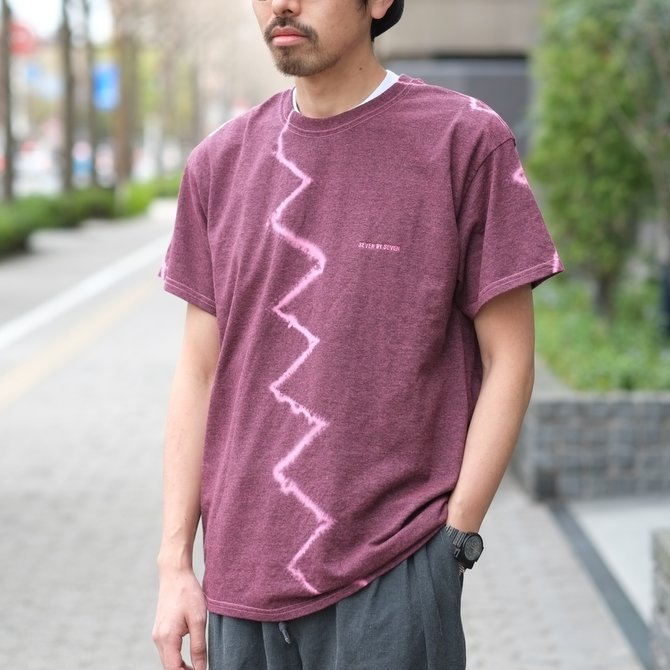 【30% off SALE】【2018 SS】7 × 7 / seven by seven ( セブン バイ セブン ) TIE-DYE T-SHIRT -PINK- #SBSS18TDTSH(11)