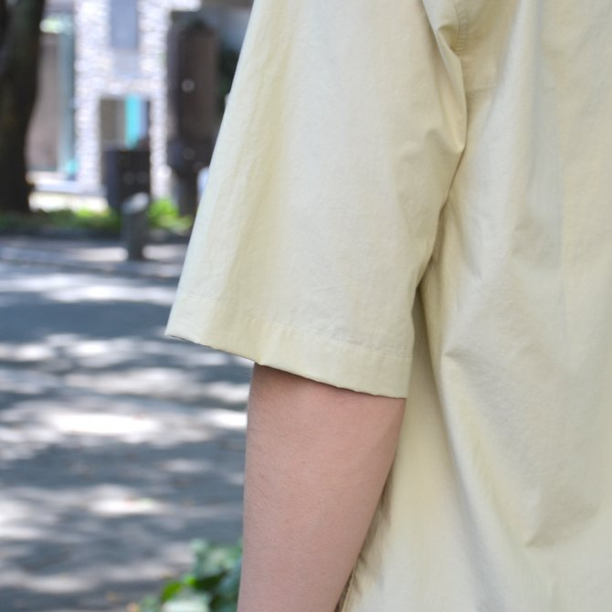 【40% OFF SALE】STUDIO NICHOLSON(スタジオニコルソン)/ OPEN COLLAR SHORT SLV SHIRT -KHAKI- #SN-280(11)