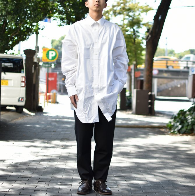 【2018 AW】 CAMIEL FORTGENS(カミエル フォートゲンス)/LONG SHIRT SHIRTING -WHITE- #CAMIEL-634(11)