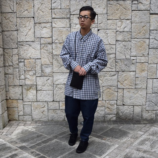 Marvine Pontiak Shirt Makers(マーヴィンポンティアックシャツメーカーズ)/TWO TONE L/S Shirt -GREEN CHECK- #MPSM-1913S(11)