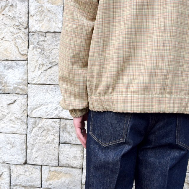 【2020 SS】 AURALEE(オーラリー)/ HARD TWIST WOOL DOUBLE FACE CHECK BLOUZON -BEIGE CHECK- #A20SB01WC(11)