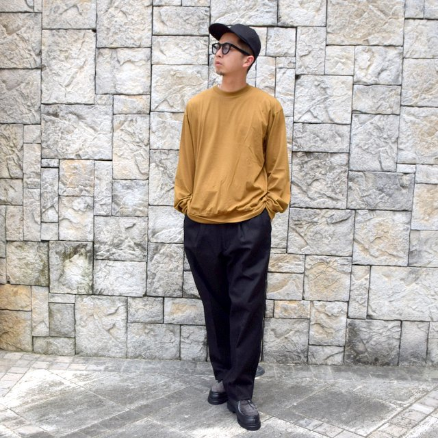 【2020】blurhms(ブラームス)/ SUPER SURGE WIDE SLACKS -BLACK- #BHS20F002(11)