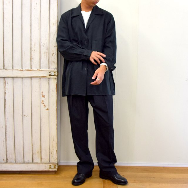 【2020】YOKE(ヨーク)/ BIG FLAP LONG SHIRTS -BLACK- #YK20AW0144SH(11)