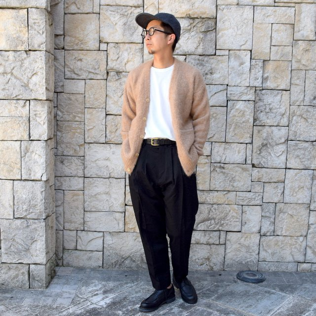 【2020】 AURALEE(オーラリー)/ ALPACA WOOL SUPER LIGHT KNIT BIG CARDIGAN -TOP BEIGE- #A20AC01AW(11)