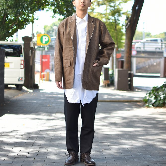 【2018 AW】 CAMIEL FORTGENS(カミエル フォートゲンス)/LONG SHIRT SHIRTING -WHITE- #CAMIEL-634(12)