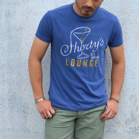 【30% off sale】Speakeasy(スピークイージー) T-shirt -WASHED ROYAL- (1)