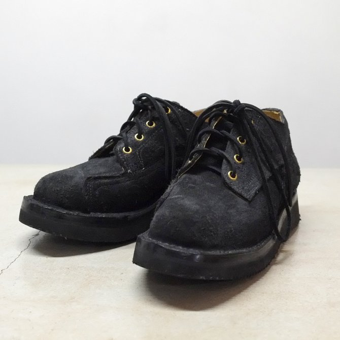 GRIZZLY BOOTS(グリズリー ブーツ) Lineman Oxford -BLACK ROUGH OUT-【別注】(1)