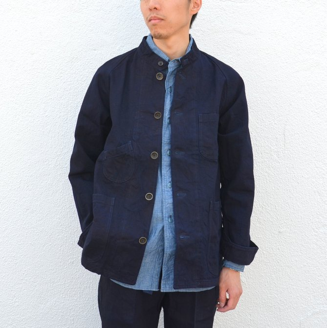 chimala(チマラ)/10OZ INDIGO X BLACK WEFT DENIM RAILROAD JACKET(UNISEX) -INDIGO- CS23-JT19(1)