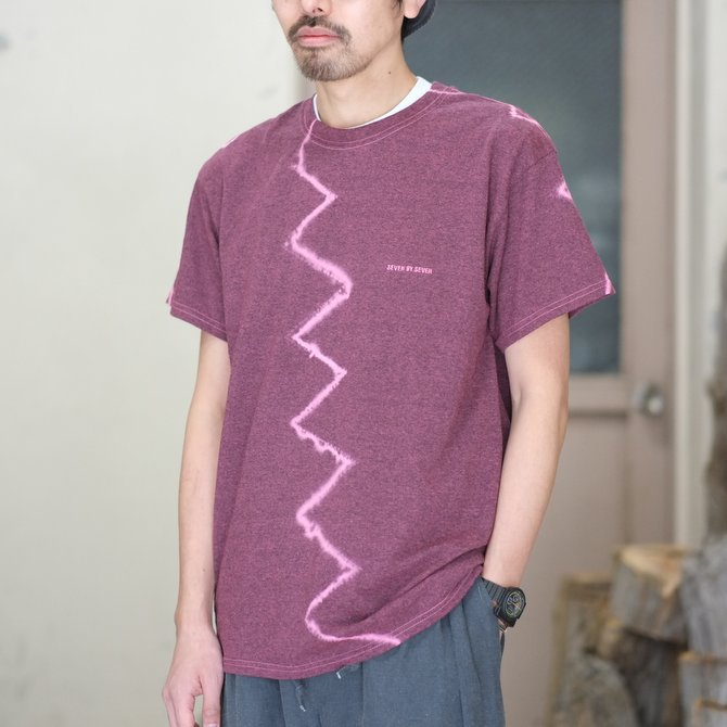 【30% off SALE】【2018 SS】7 × 7 / seven by seven ( セブン バイ セブン ) TIE-DYE T-SHIRT -PINK- #SBSS18TDTSH(1)