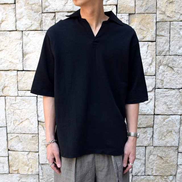 【30% off sale 】KAPTAIN SUNSHINE (キャプテンサンシャイン)/ SKIPPER SHIRT  -BLACK-#KS9SCS09(1)