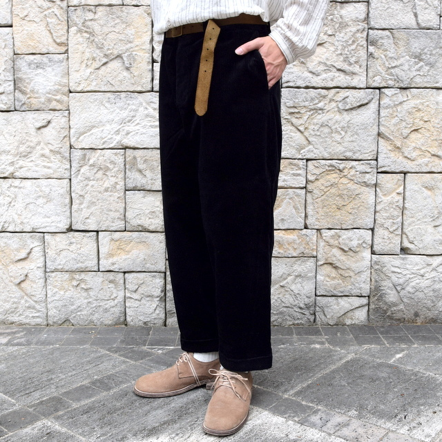 【2019 AW】 too good(トゥーグッド) / THE BRICKLAYER TROUSER JUMBO CORD -FLINT- #62034235(1)