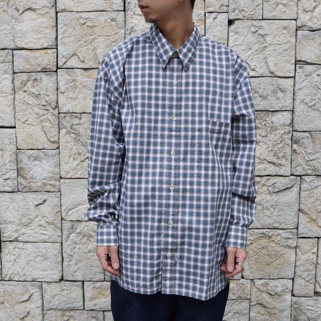 Marvine Pontiak Shirt Makers(マーヴィンポンティアックシャツメーカーズ)/TWO TONE L/S Shirt -GREEN CHECK- #MPSM-1913S(1)
