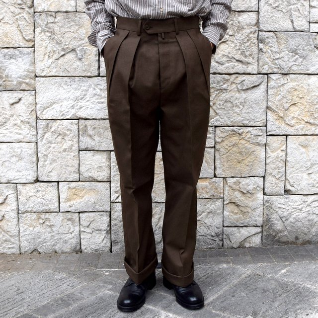 【2020 SS】NEAT(ニート)/ HOPSACK ''WIDE'' -KHAKI- #20-01HSW-KH(1)
