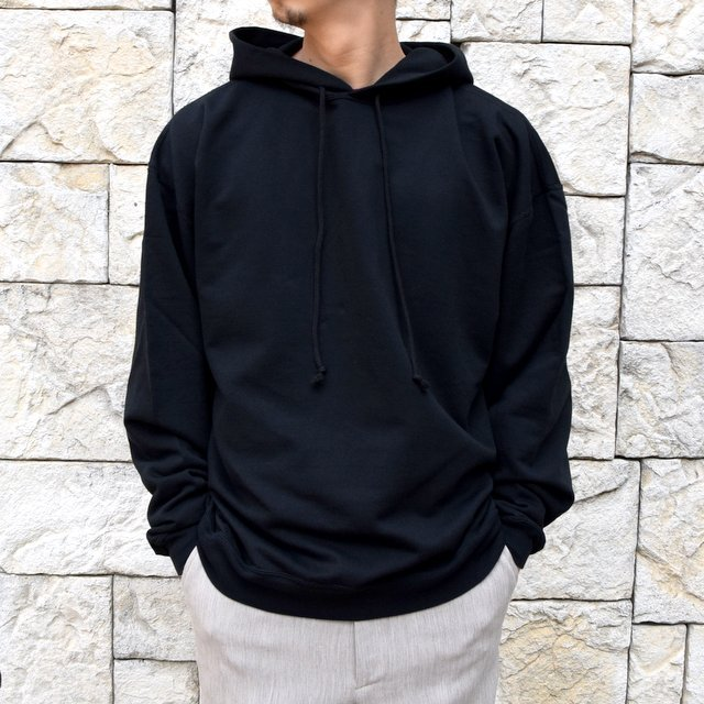 【2020 SS】AURALEE(オーラリー)/ SUPER SOFT SWEAT BIG P/O PARKA -BLACK- #A20SP01GU(1)