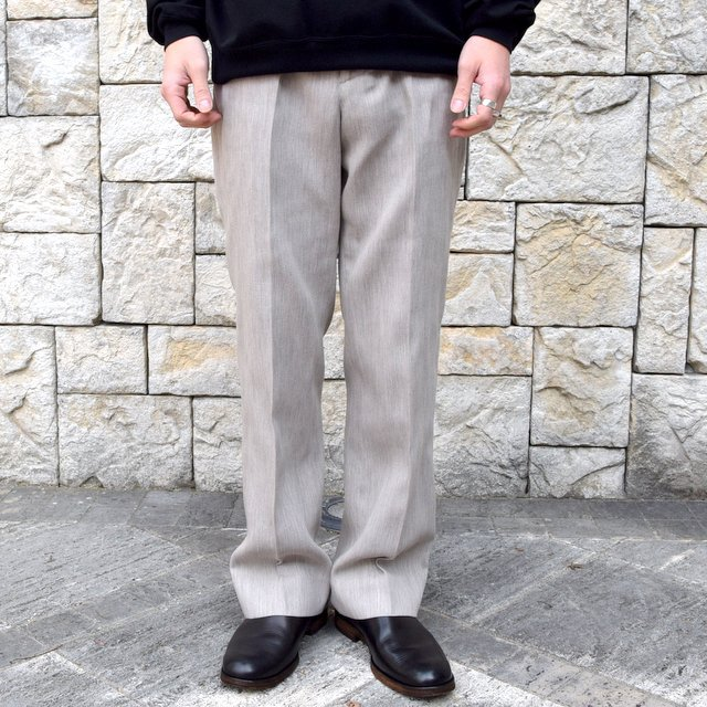 【2020 SS】AURALEE(オーラリー)/ COTTON WOOL DOUBLE CLOTH SLACKS -TOP GRAY- #A20SP02WF(1)