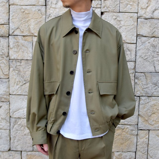 【2020 SS 】MARKAWARE(マーカウェア)/FLIGHT JACKET ORGANIC WOOL TROPICAL -OLIVE KHAKI- #A20A-04BL01C(1)